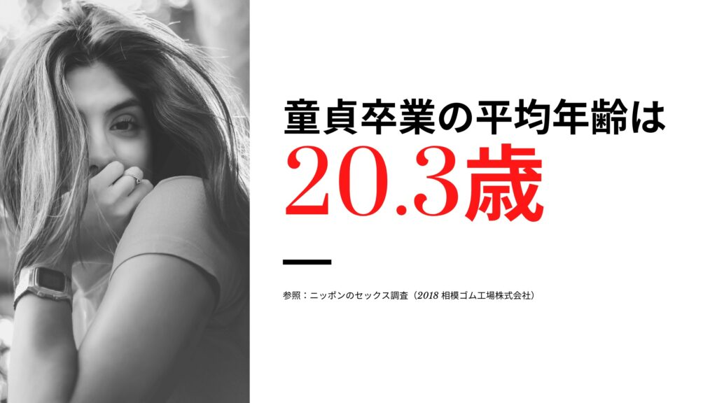 年齢 日本 初 体験 平均